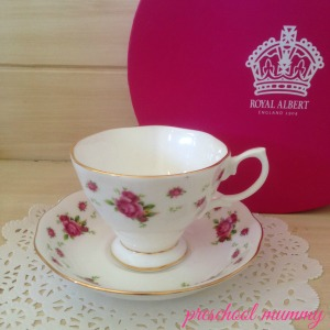 Rosie's own Royal Albert collection has begun with this gorgeous Christening gift from a dear friend.