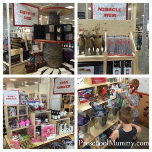 My boys explore some of the offerings in the Kids Cubby gift section. Ahem, fellas... head on over to the Mum section next?