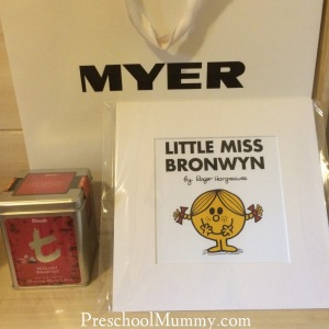 Some gifts for The Mummy. Dilmah Teas demonstrations in-store in Brisbane, Melbourne and Sydney city stores. Another clever little gift idea is this personalised Little Miss (or Mr Men) print, available in city stores.