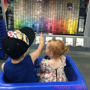 These little cuties helping me choose a paint colour from Valspar's exciting selection!