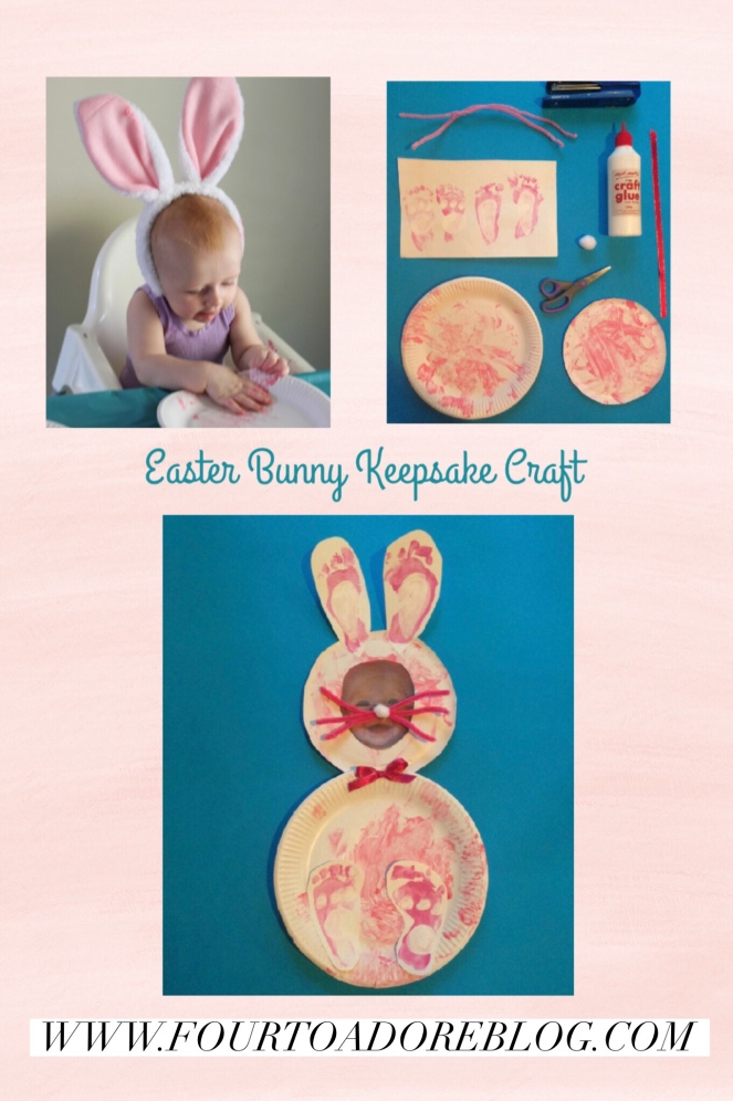 Easter Bunny Keepsake Craft for Babies