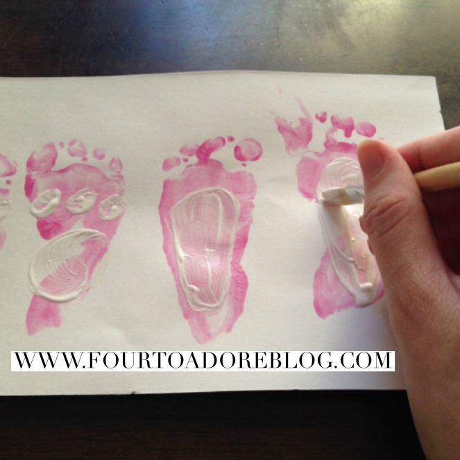 baby footprint keepsake
