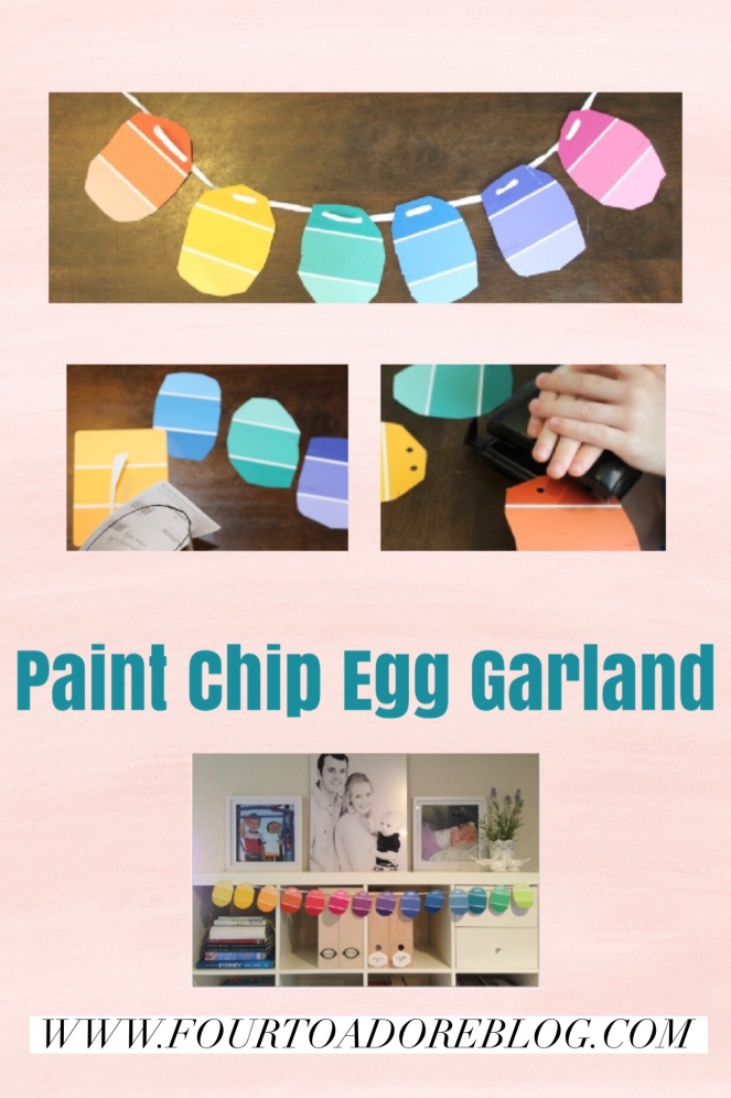 Easter craft garland egg