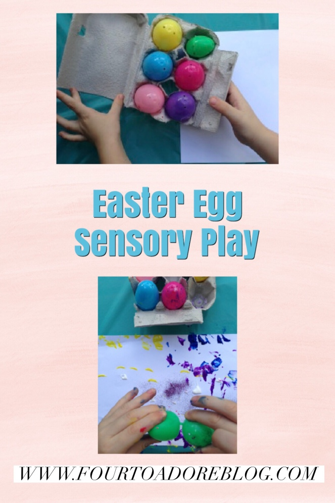 Easter Egg Sensory Play with paint